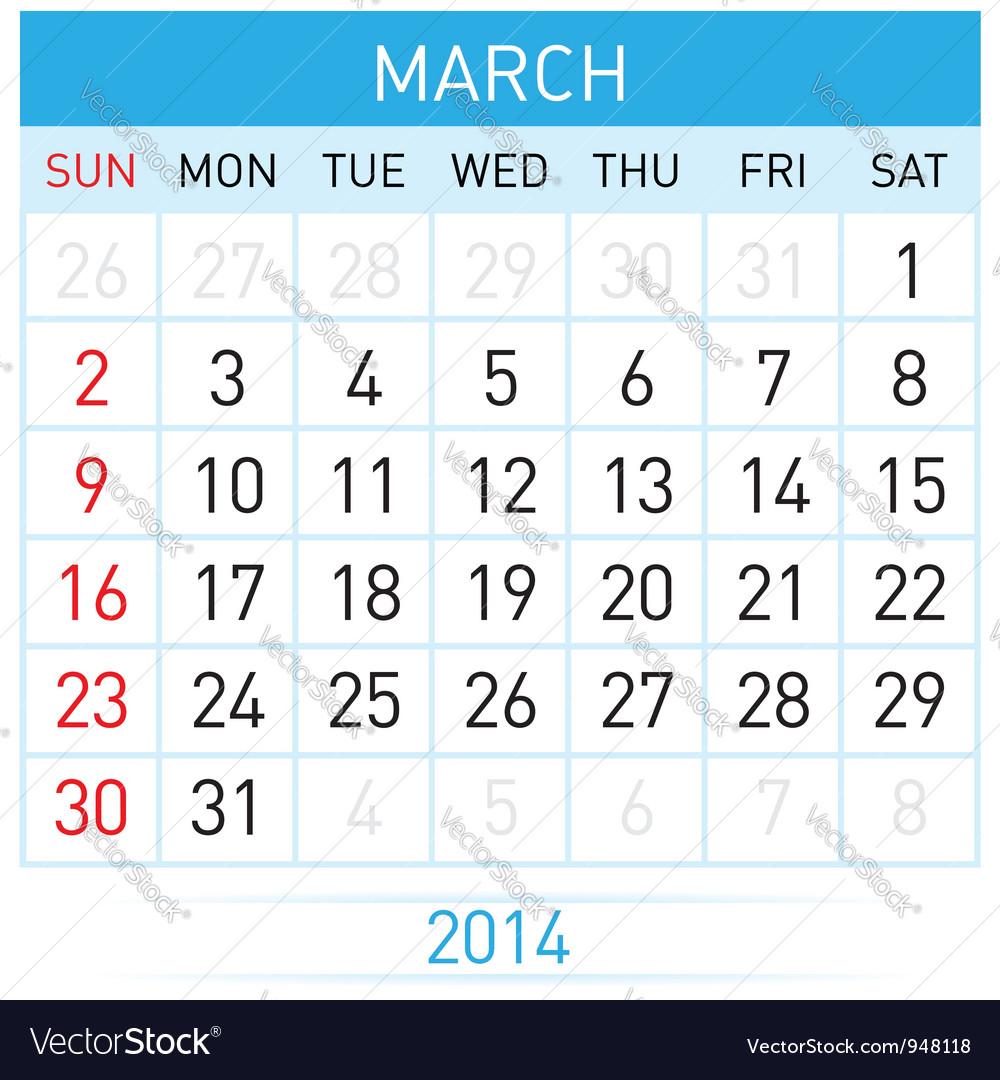 Calendar month vector | Price: 1 Credit (USD $1)