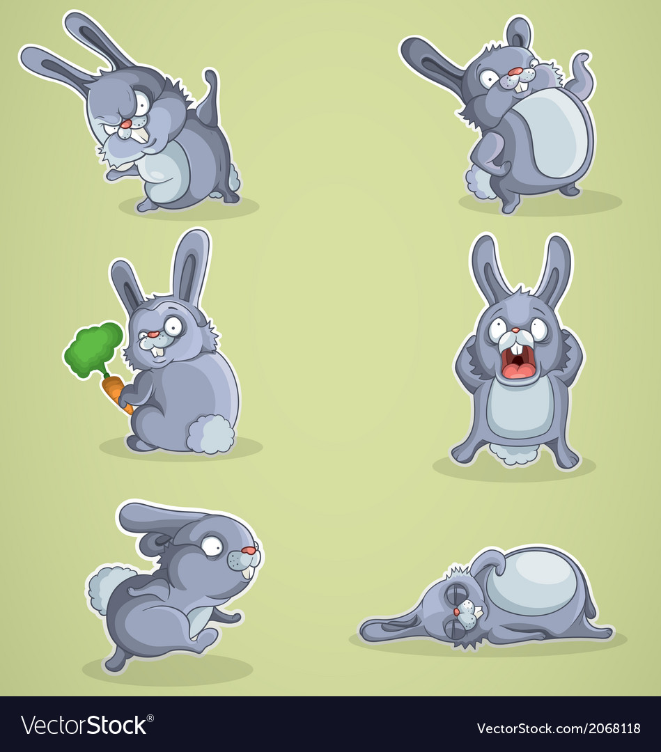 Crazy rabbits vector | Price: 1 Credit (USD $1)