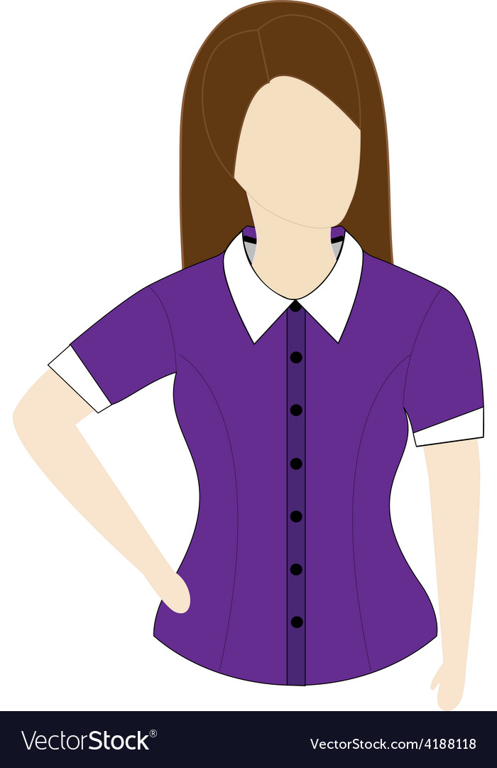 Female shirt template with short sleeves vector | Price: 1 Credit (USD $1)