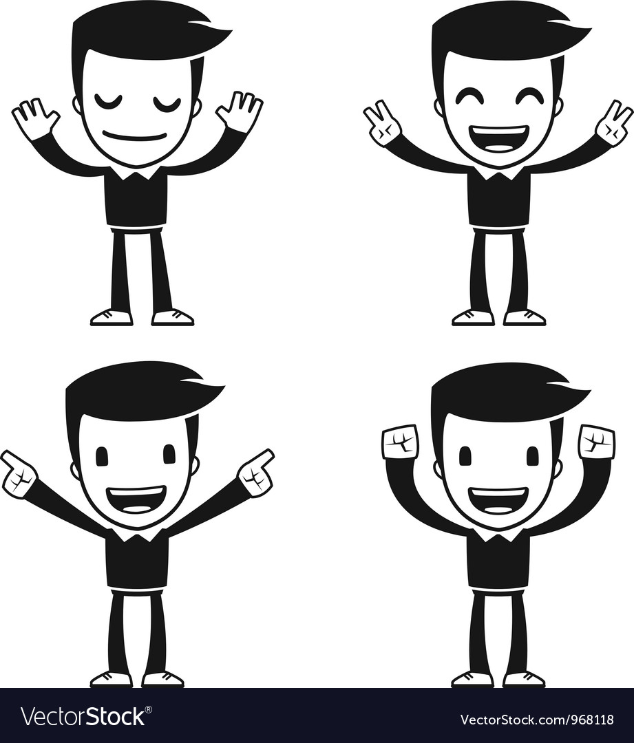 Funny cartoon helper man vector | Price: 1 Credit (USD $1)