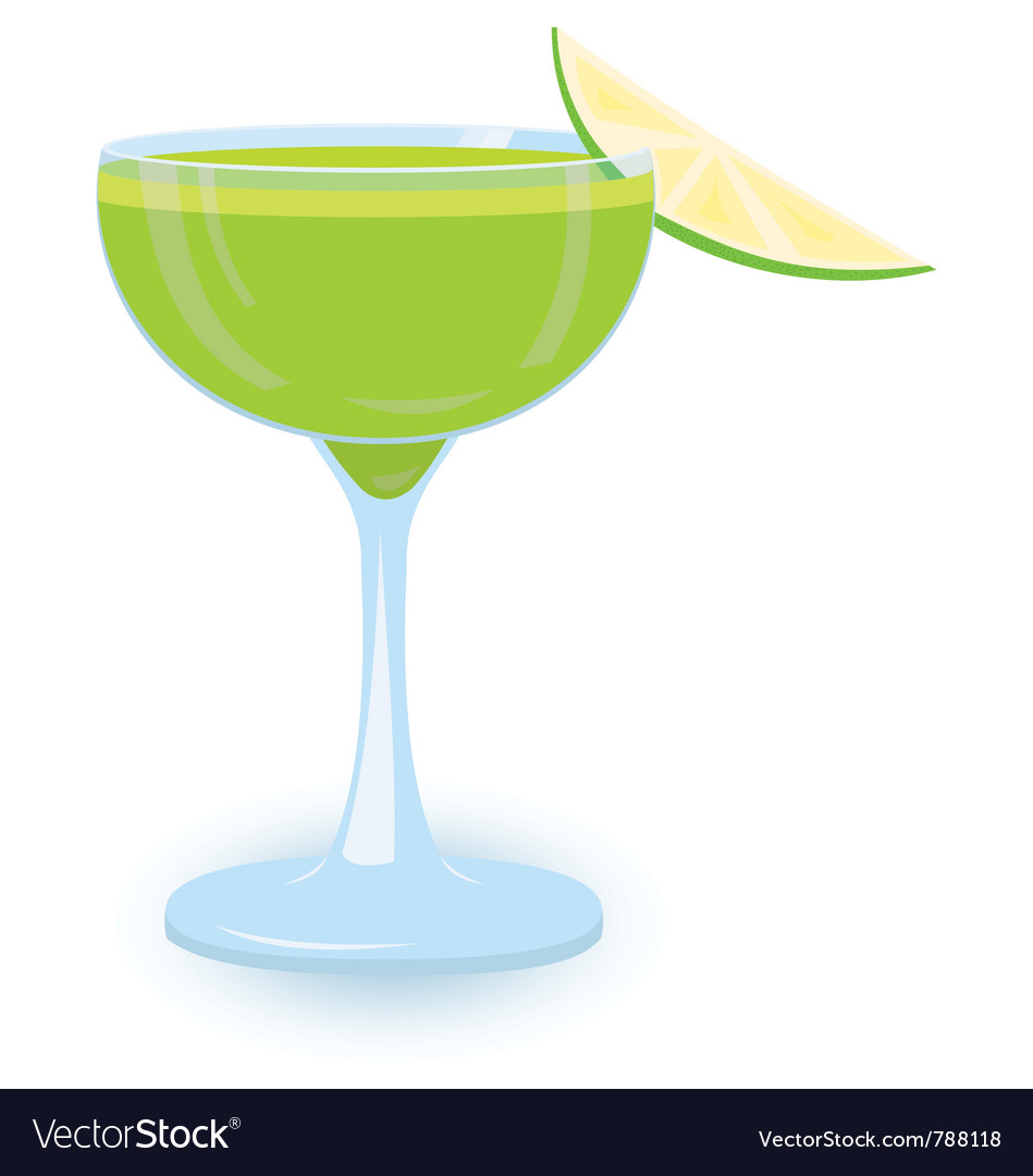 Green cocktail vector | Price: 1 Credit (USD $1)