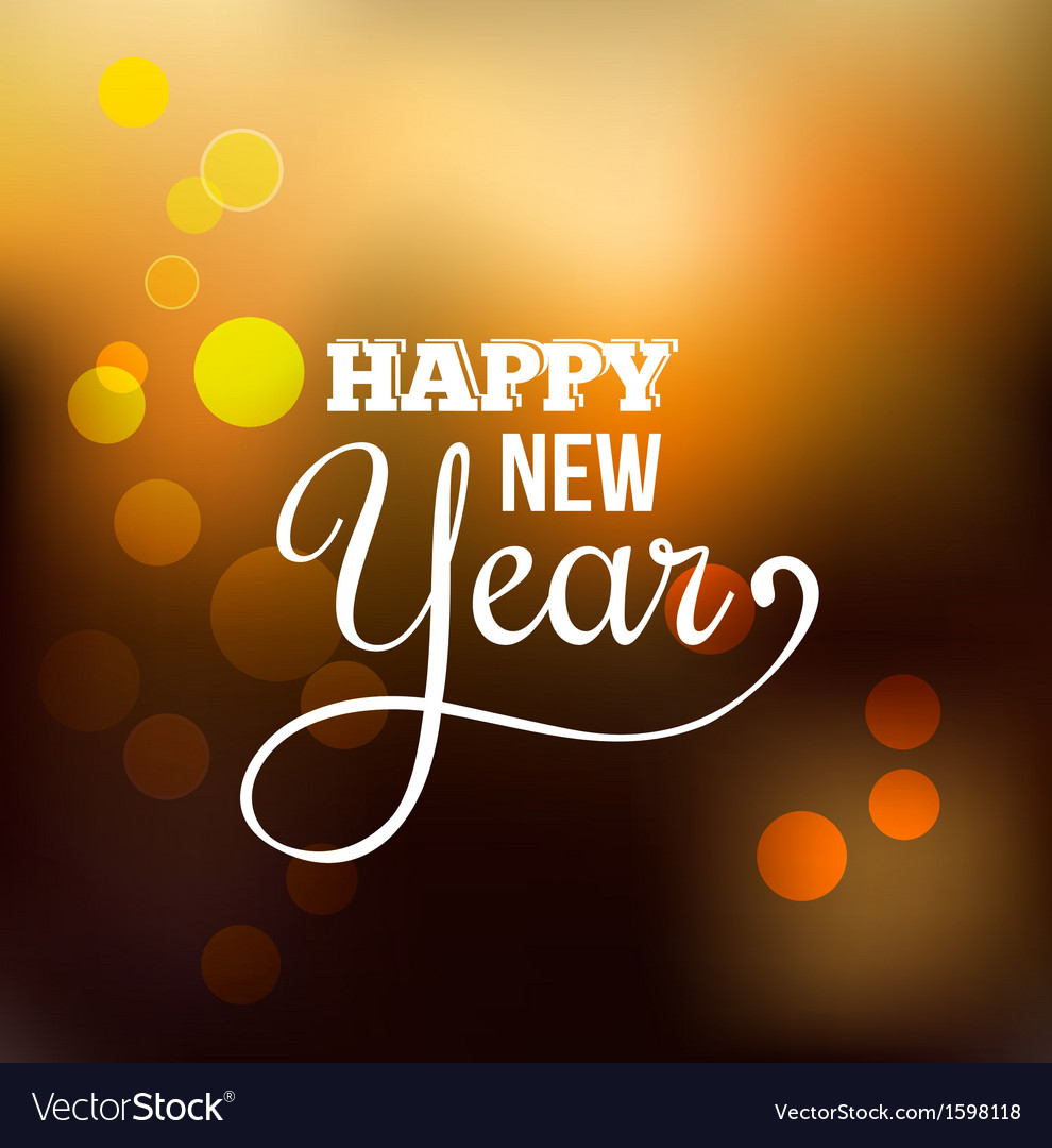 Happy new year abstract background vector | Price: 1 Credit (USD $1)