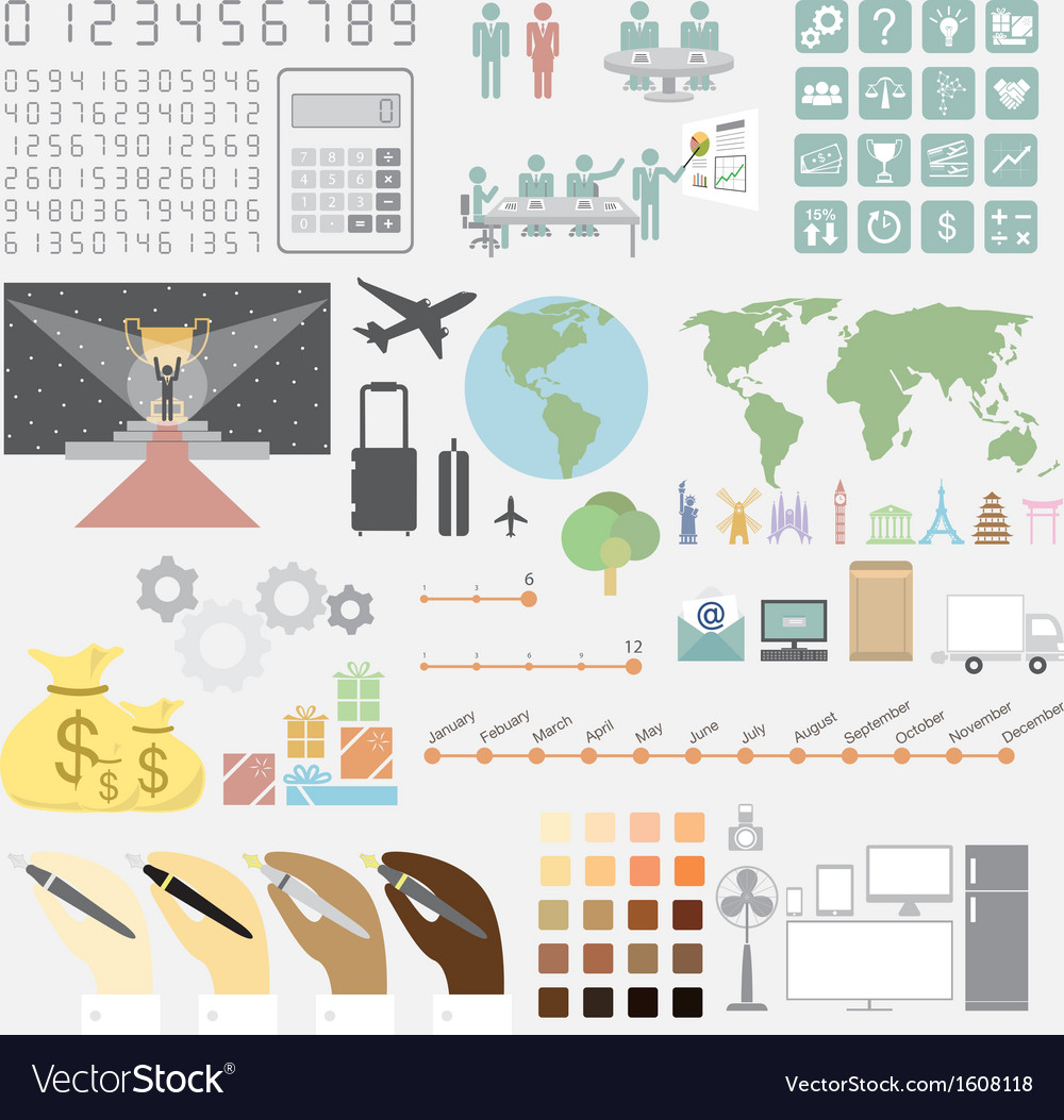 Infographics convention plan vector | Price: 1 Credit (USD $1)