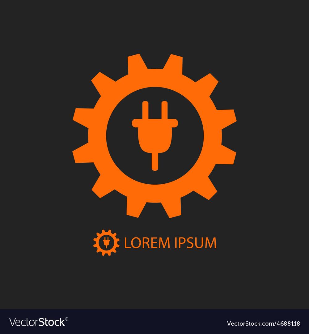 Orange energy industry logo vector | Price: 1 Credit (USD $1)