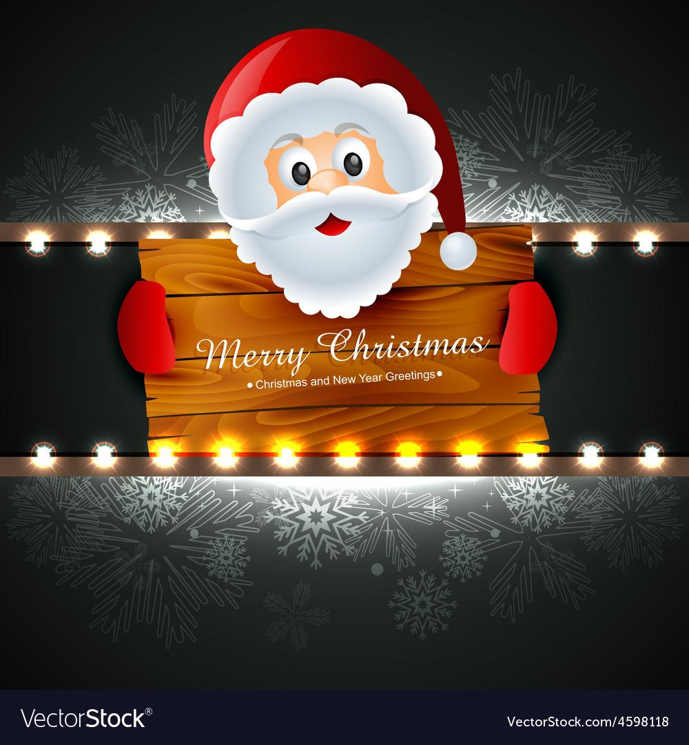 Santa claus wishing christmas vector | Price: 1 Credit (USD $1)
