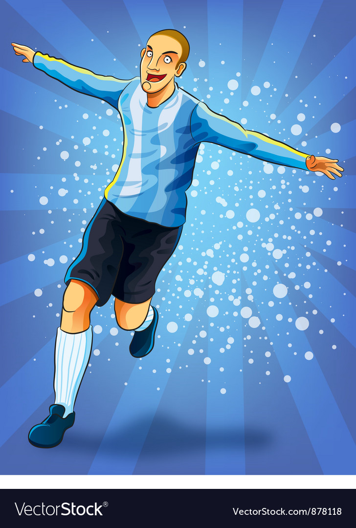 Soccer player celebrating goal vector | Price: 3 Credit (USD $3)