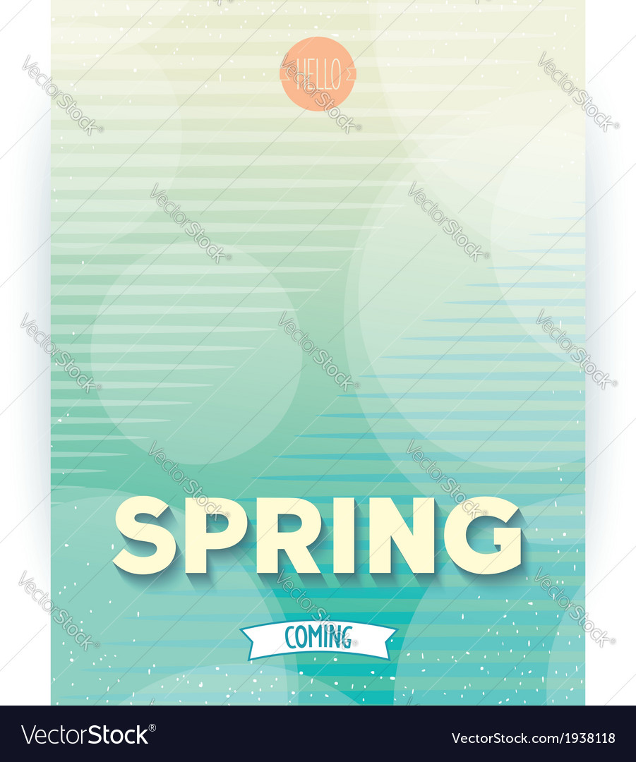 Spring abstract design poster vector | Price: 1 Credit (USD $1)