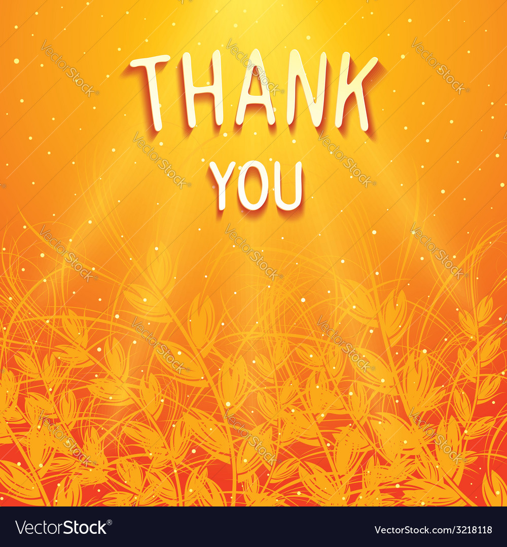 Thank you background design vector | Price: 1 Credit (USD $1)