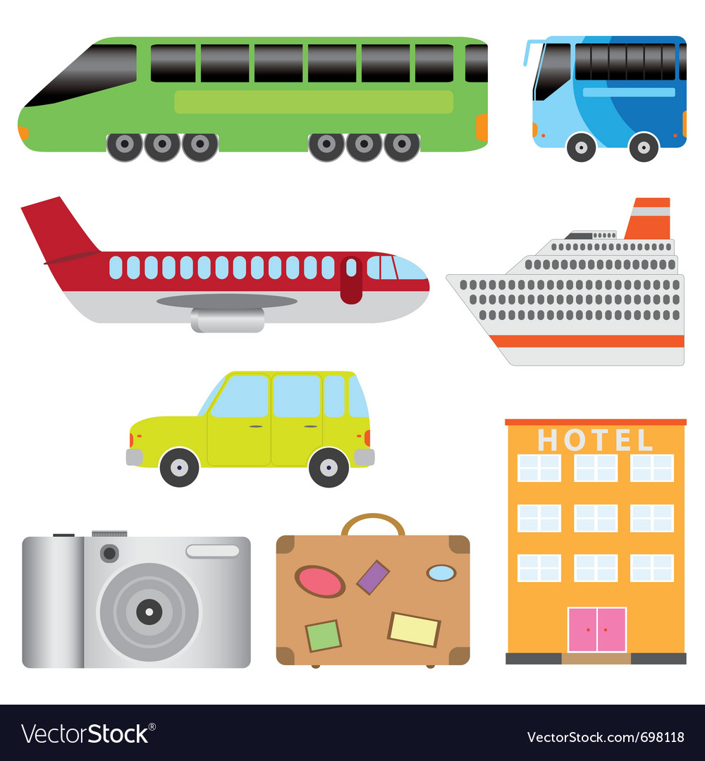 Transport and tourism vector | Price: 1 Credit (USD $1)