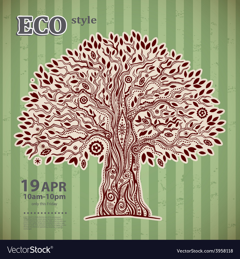 Unique ethnic tree of life vector | Price: 1 Credit (USD $1)