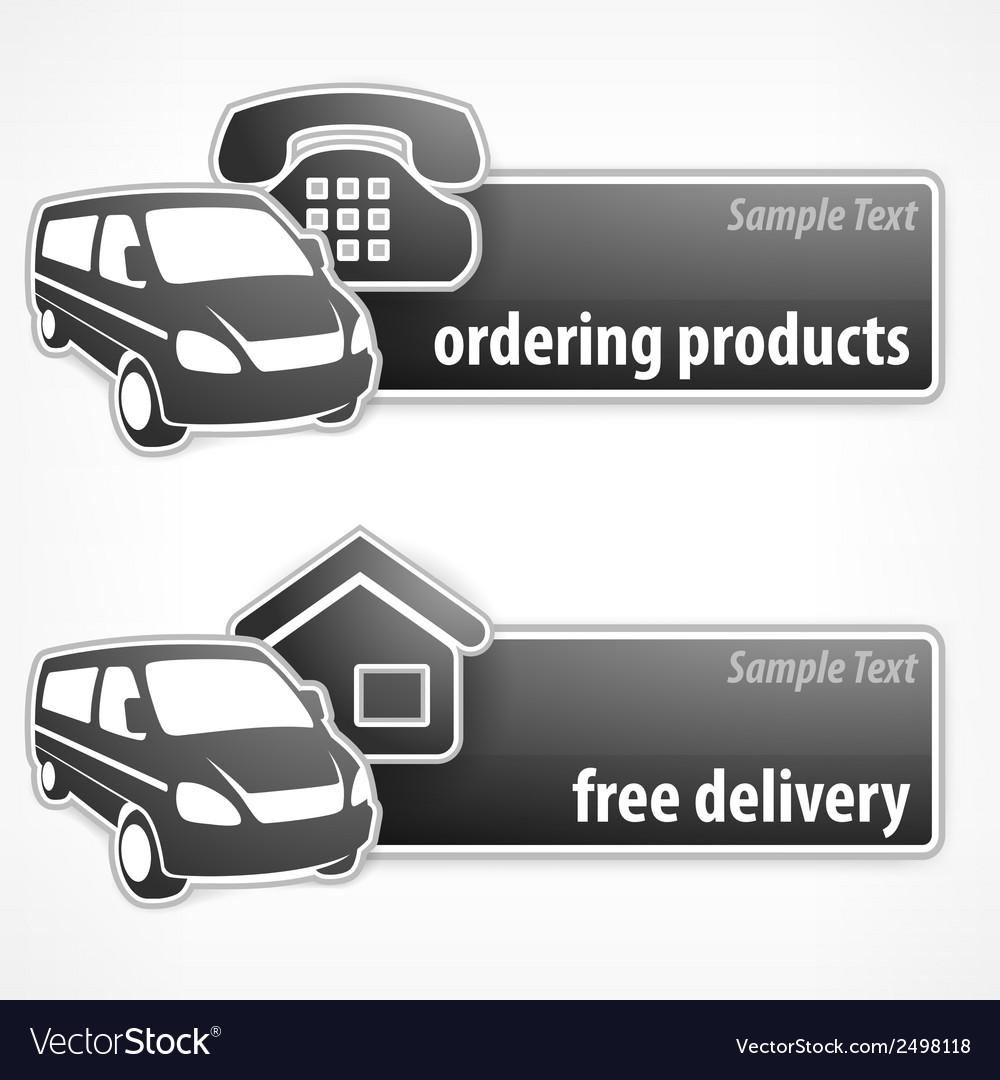 Van promotion banner vector | Price: 1 Credit (USD $1)