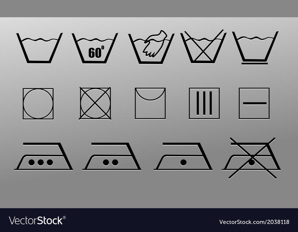 Washing symbols vector | Price: 1 Credit (USD $1)