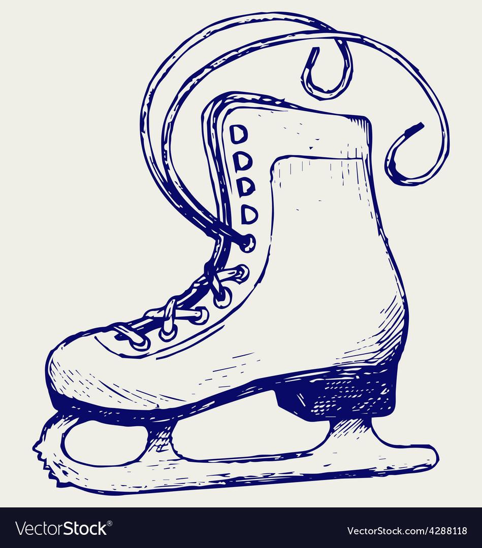 White skates vector | Price: 1 Credit (USD $1)