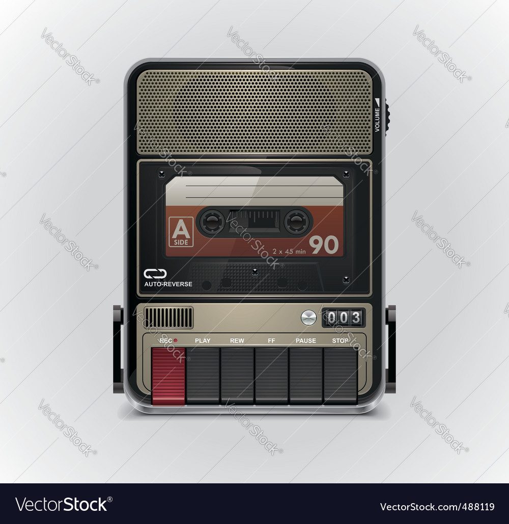 Cassette recorder vector | Price: 5 Credit (USD $5)