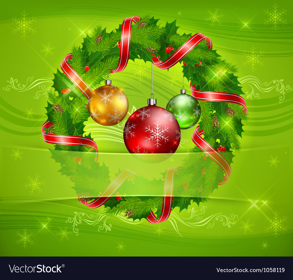 Christmas ornament holy wreath 10 v vector | Price: 1 Credit (USD $1)