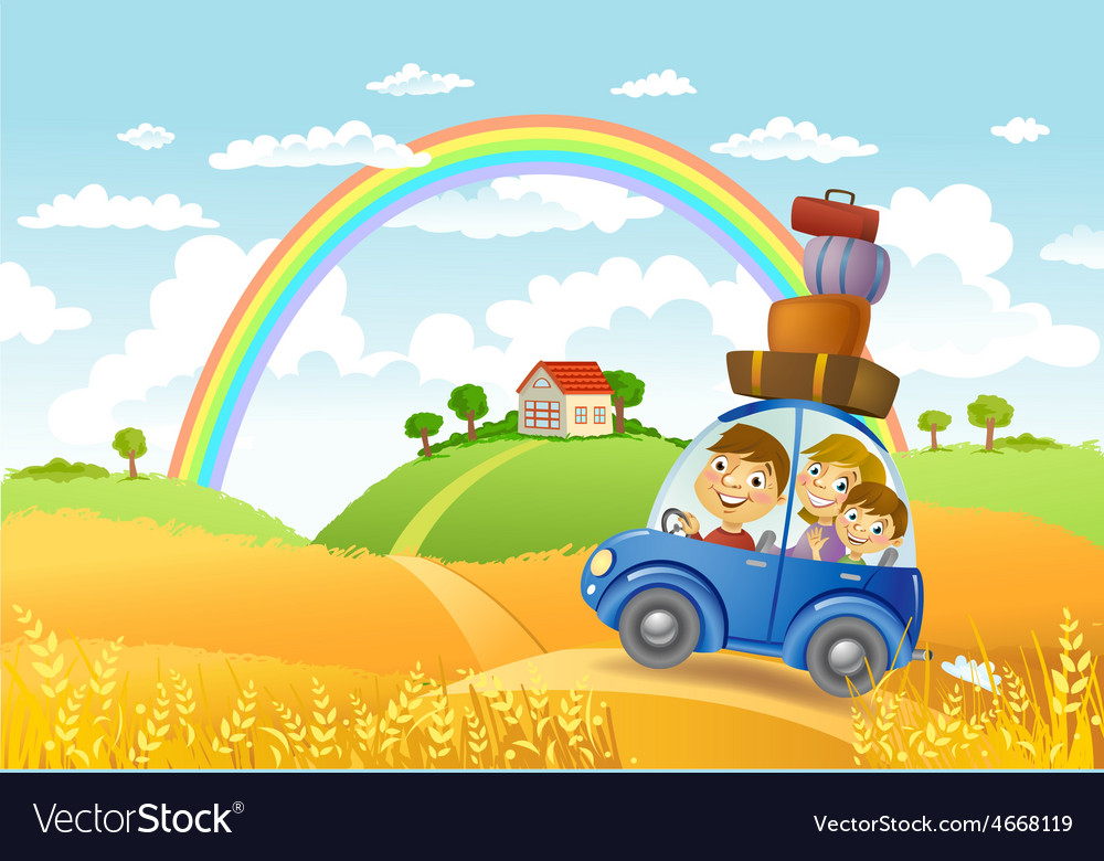 Family summer adventure vector | Price: 3 Credit (USD $3)