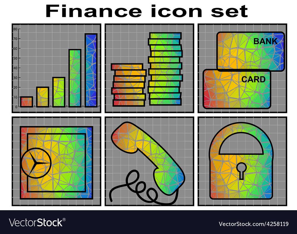 Finance icon vector | Price: 1 Credit (USD $1)