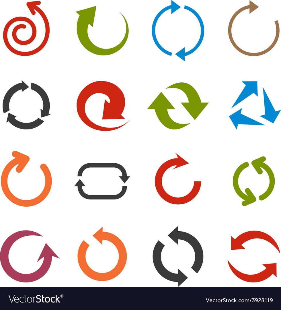 Flat arrow icons vector | Price: 1 Credit (USD $1)