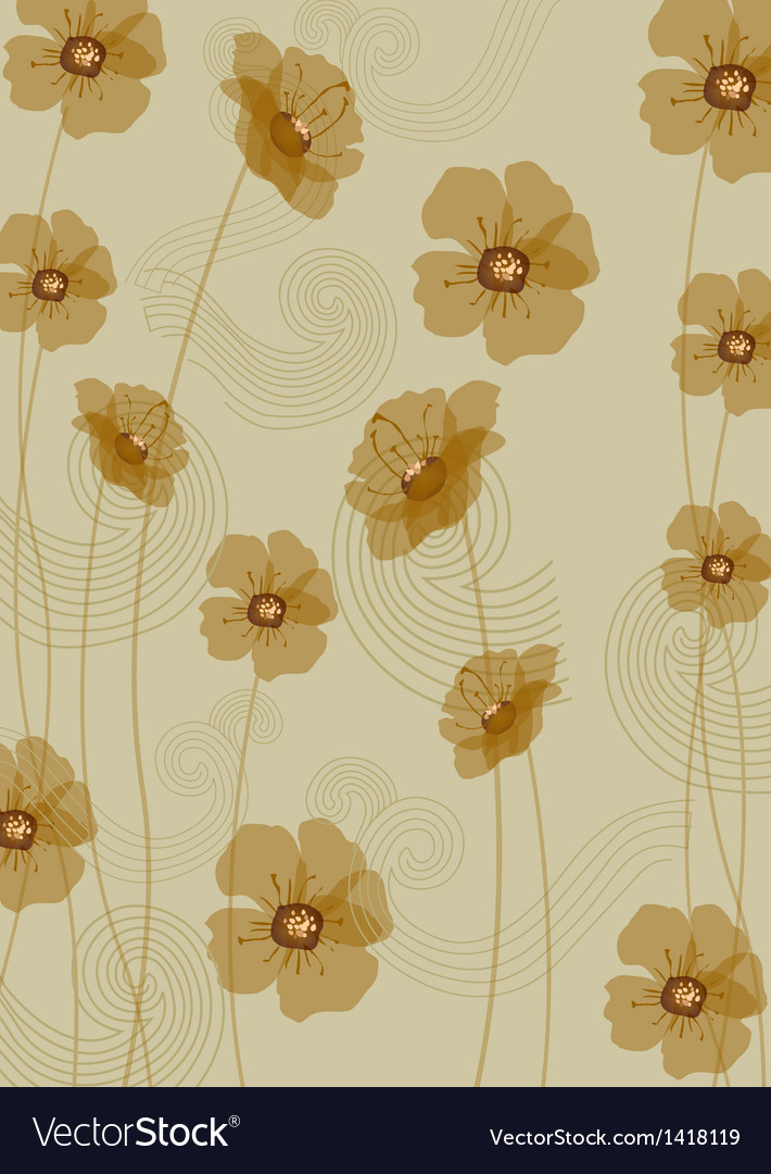 Flora wallpaper vector | Price: 1 Credit (USD $1)