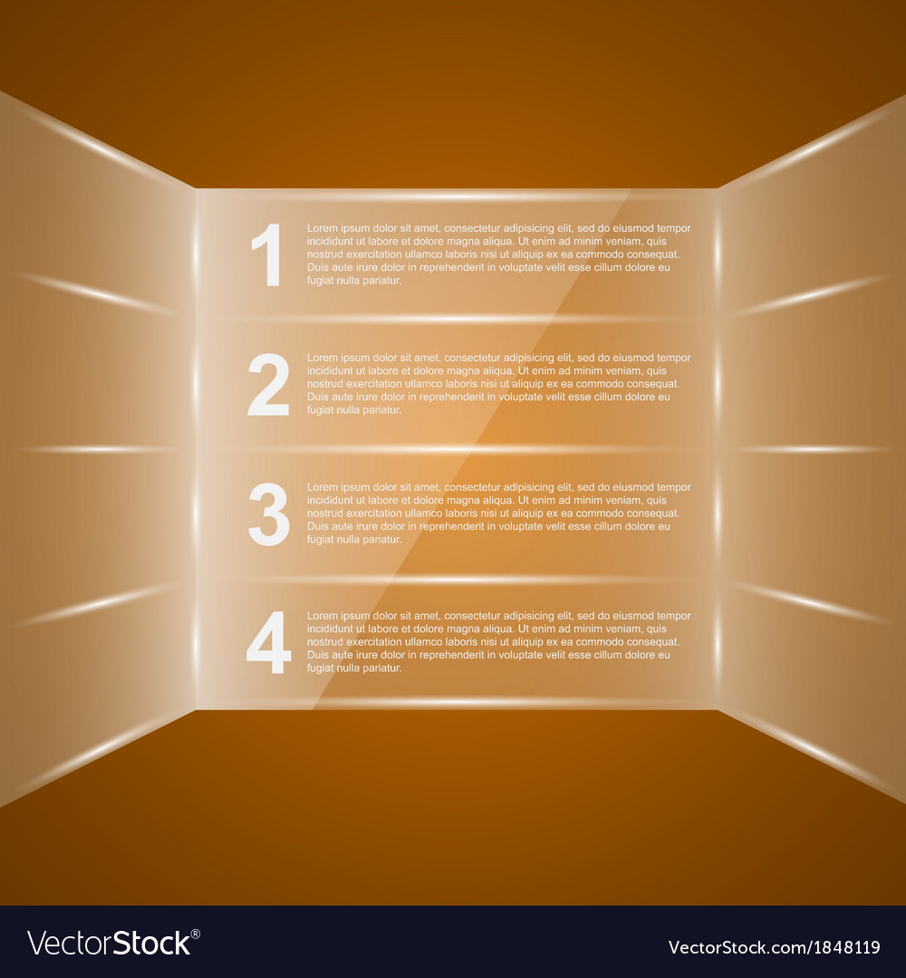 Glass infographic vector | Price: 1 Credit (USD $1)