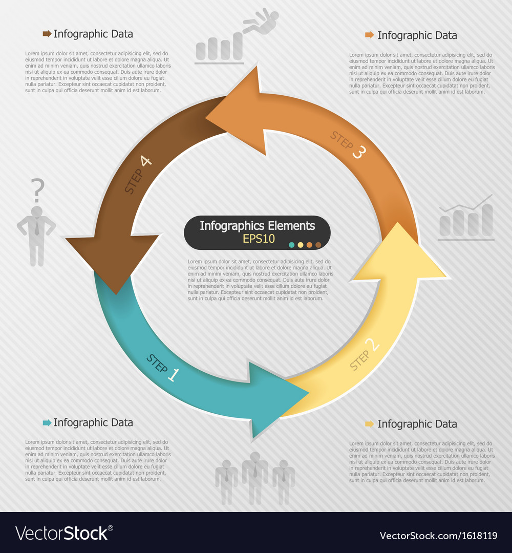 Modern infographics options banner vector | Price: 1 Credit (USD $1)