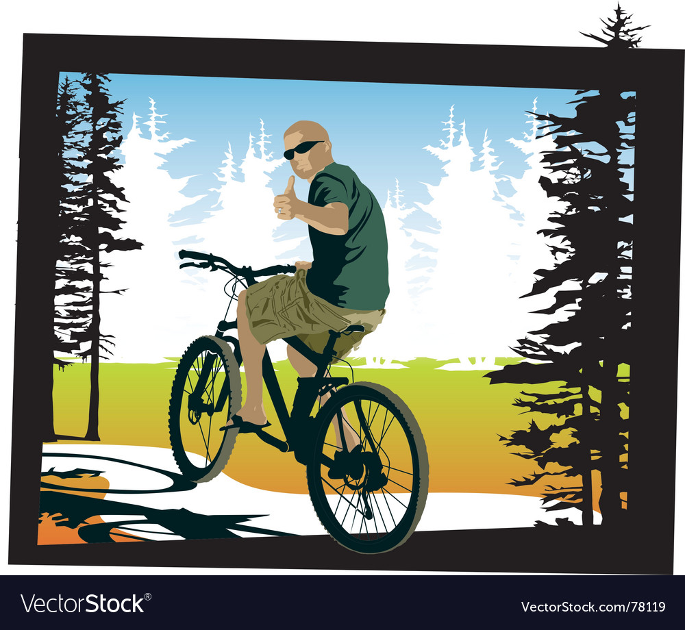 Mountainbiker thumbsup vector   Price: 3 Credit (USD $3)