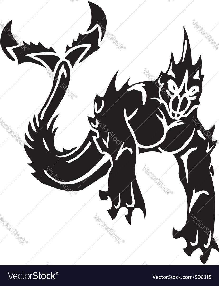 Sea monster -  vinyl-ready vector | Price: 1 Credit (USD $1)