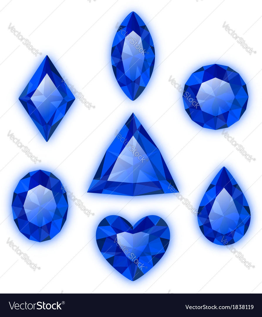 Set of gems isolated on white vector | Price: 1 Credit (USD $1)