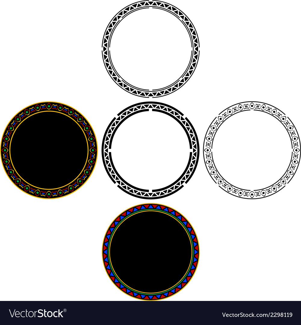 Set of mayan circles vector | Price: 1 Credit (USD $1)