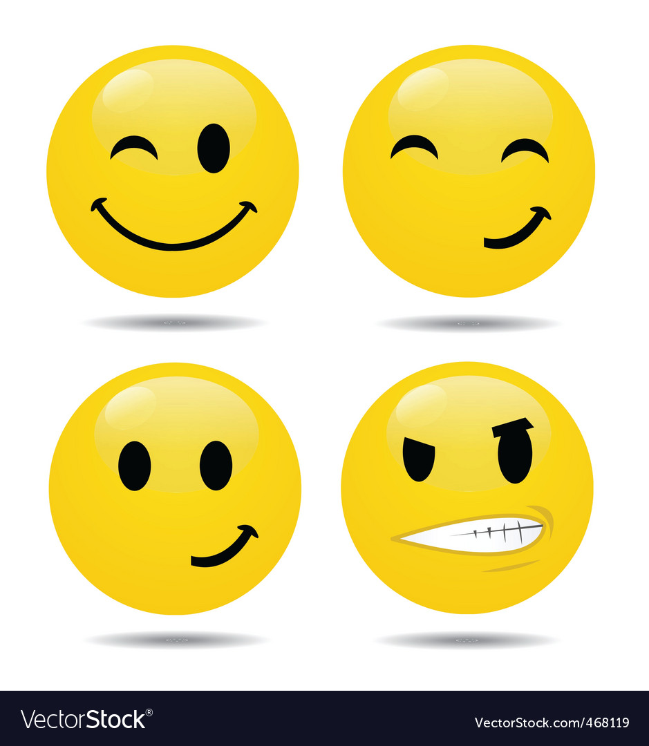 Smiley set2 vector | Price: 1 Credit (USD $1)