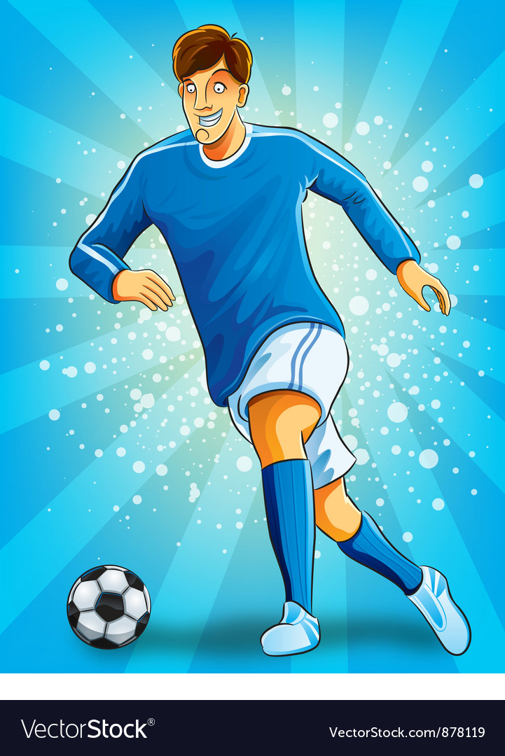 Soccer player dribble a ball vector | Price: 5 Credit (USD $5)
