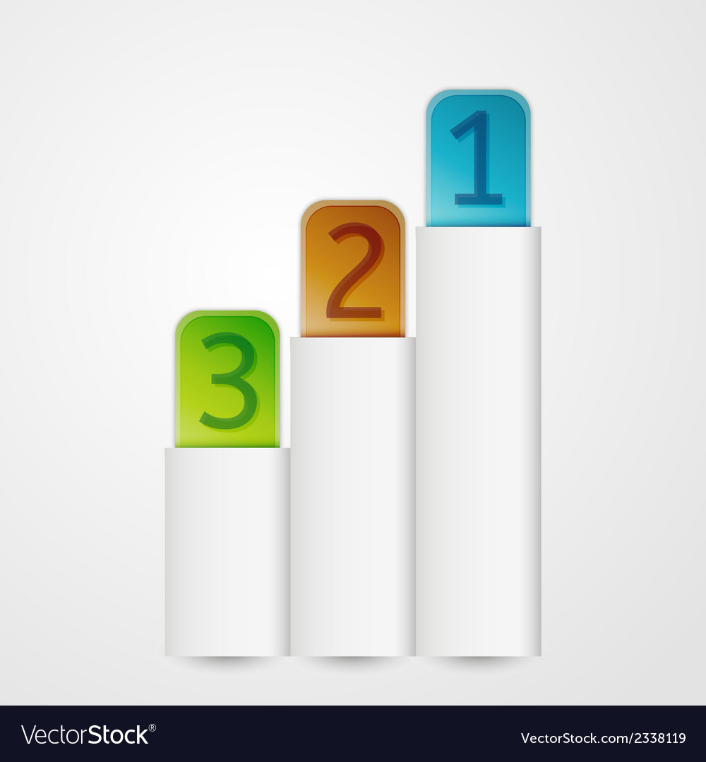Vertical banners with numbers vector   Price: 1 Credit (USD $1)