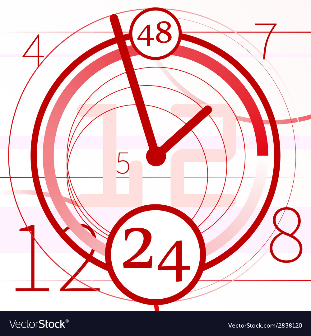 Abstract background with clock vector | Price: 1 Credit (USD $1)
