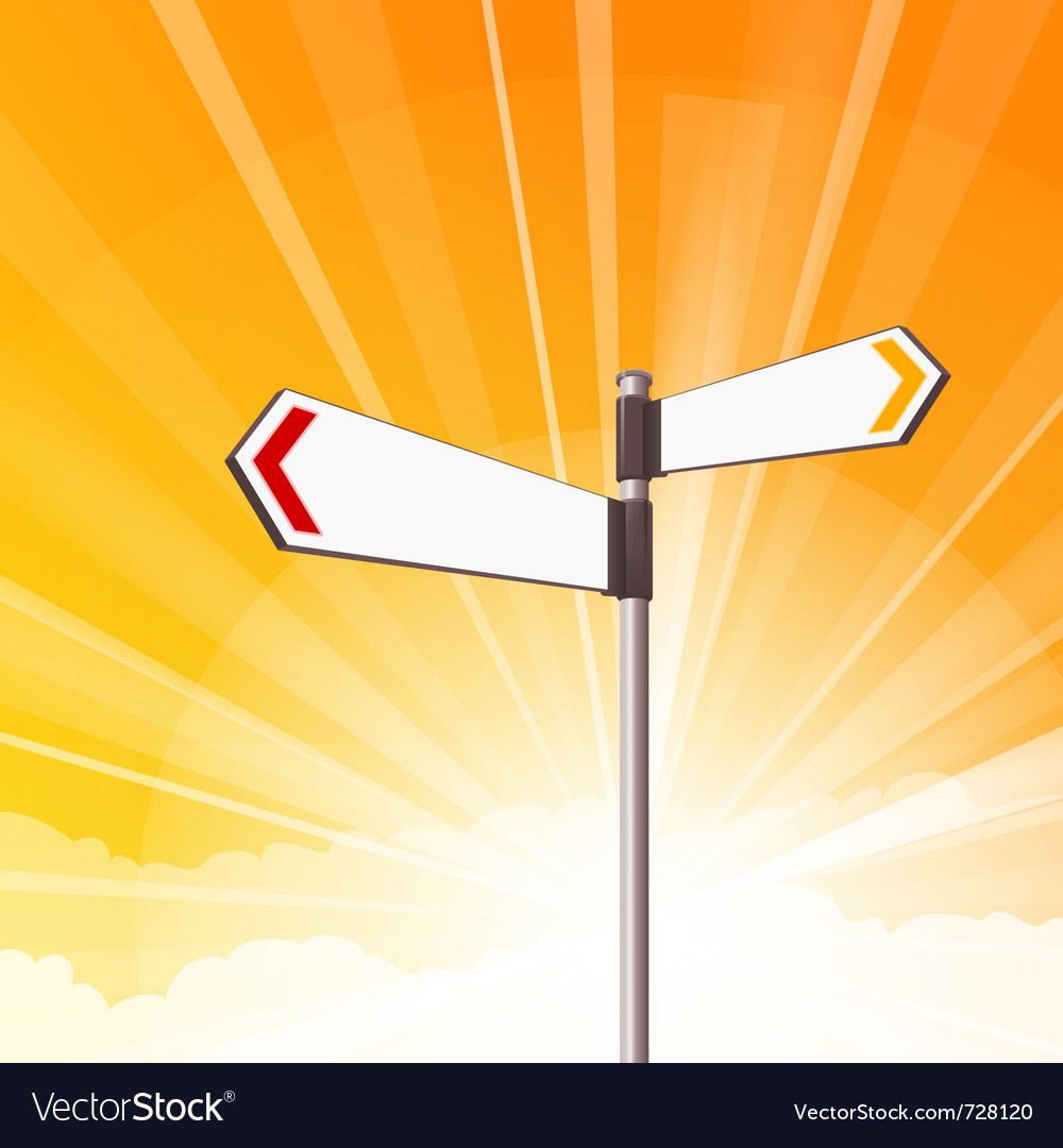 Blank destination signs vector | Price: 1 Credit (USD $1)