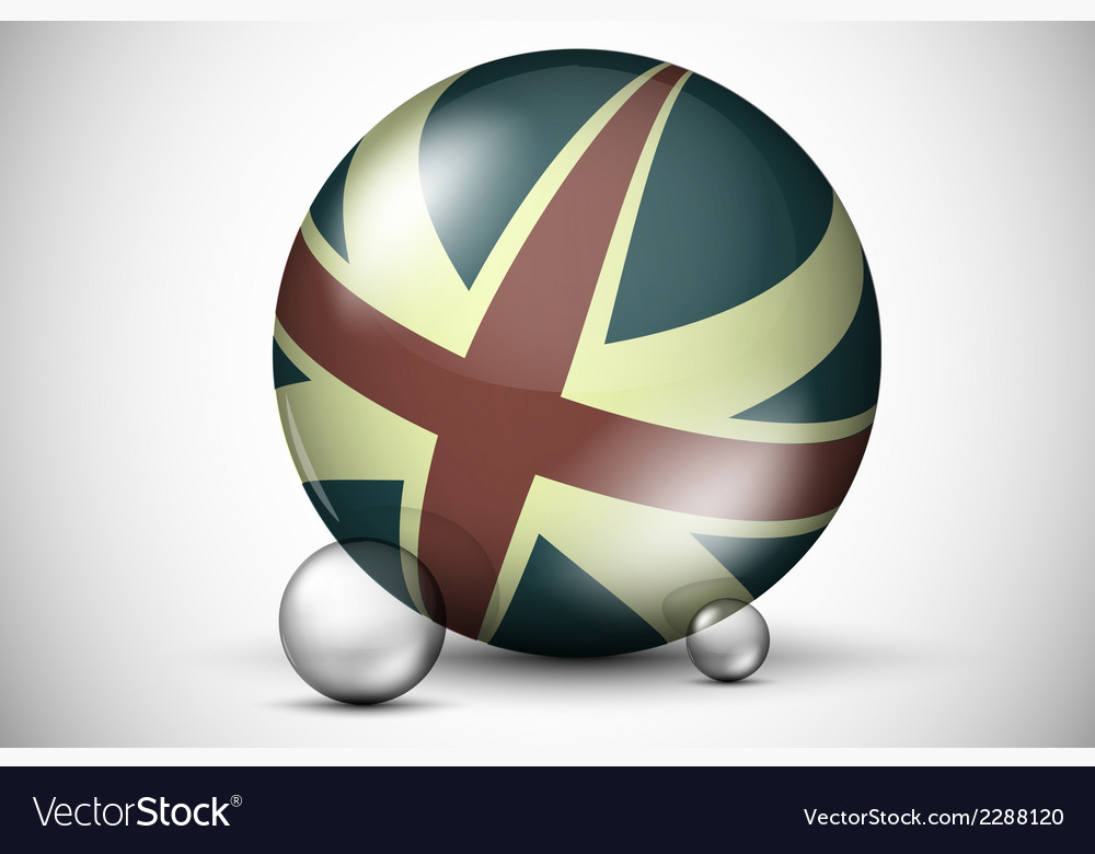 British flag on the ball field vector | Price: 1 Credit (USD $1)