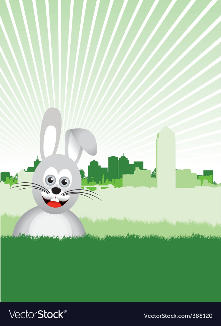 Bunny background vector | Price: 1 Credit (USD $1)