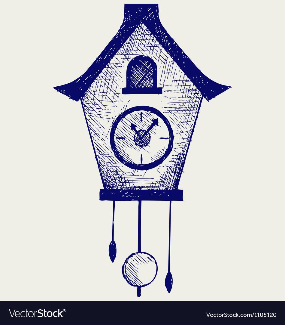 Cuckoo clock vector | Price: 1 Credit (USD $1)
