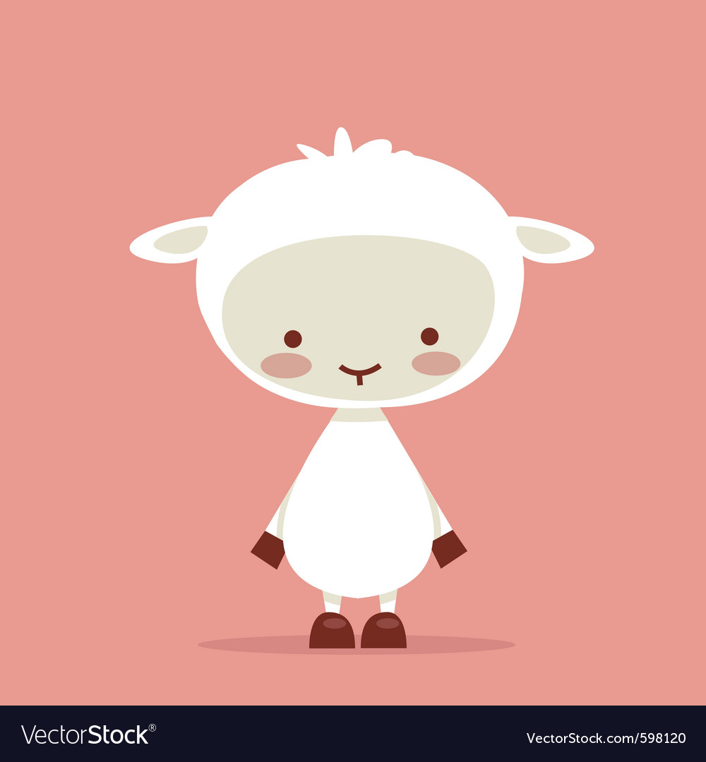 Cute sheep vector | Price: 3 Credit (USD $3)
