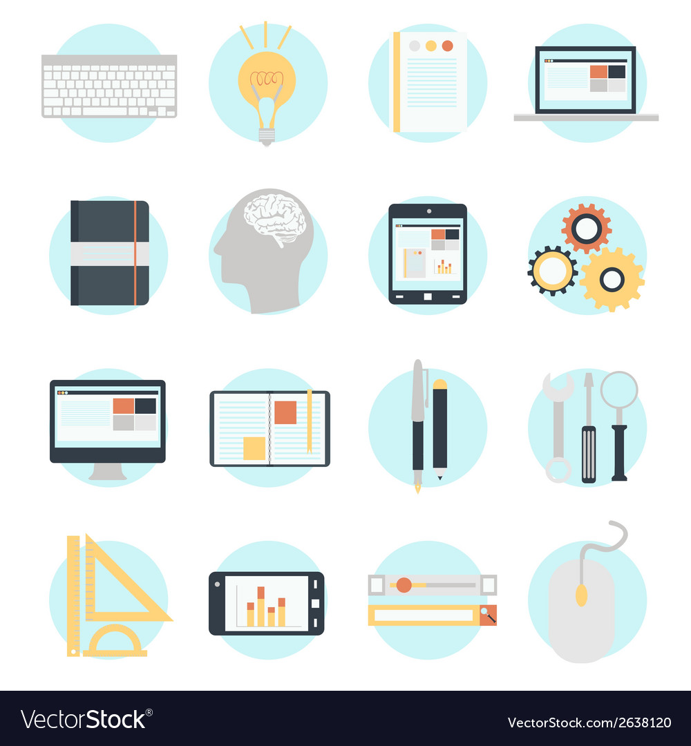 Flat design modern icons set vector | Price: 1 Credit (USD $1)