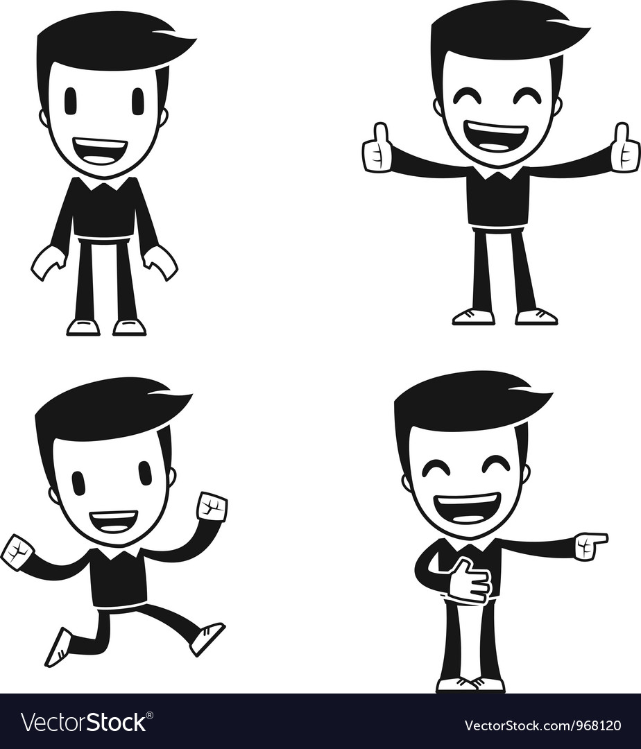 Funny cartoon helper man vector | Price: 1 Credit (USD $1)