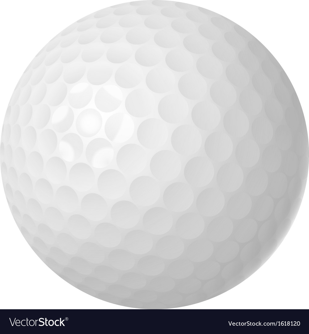 Golf ball over white vector | Price: 1 Credit (USD $1)