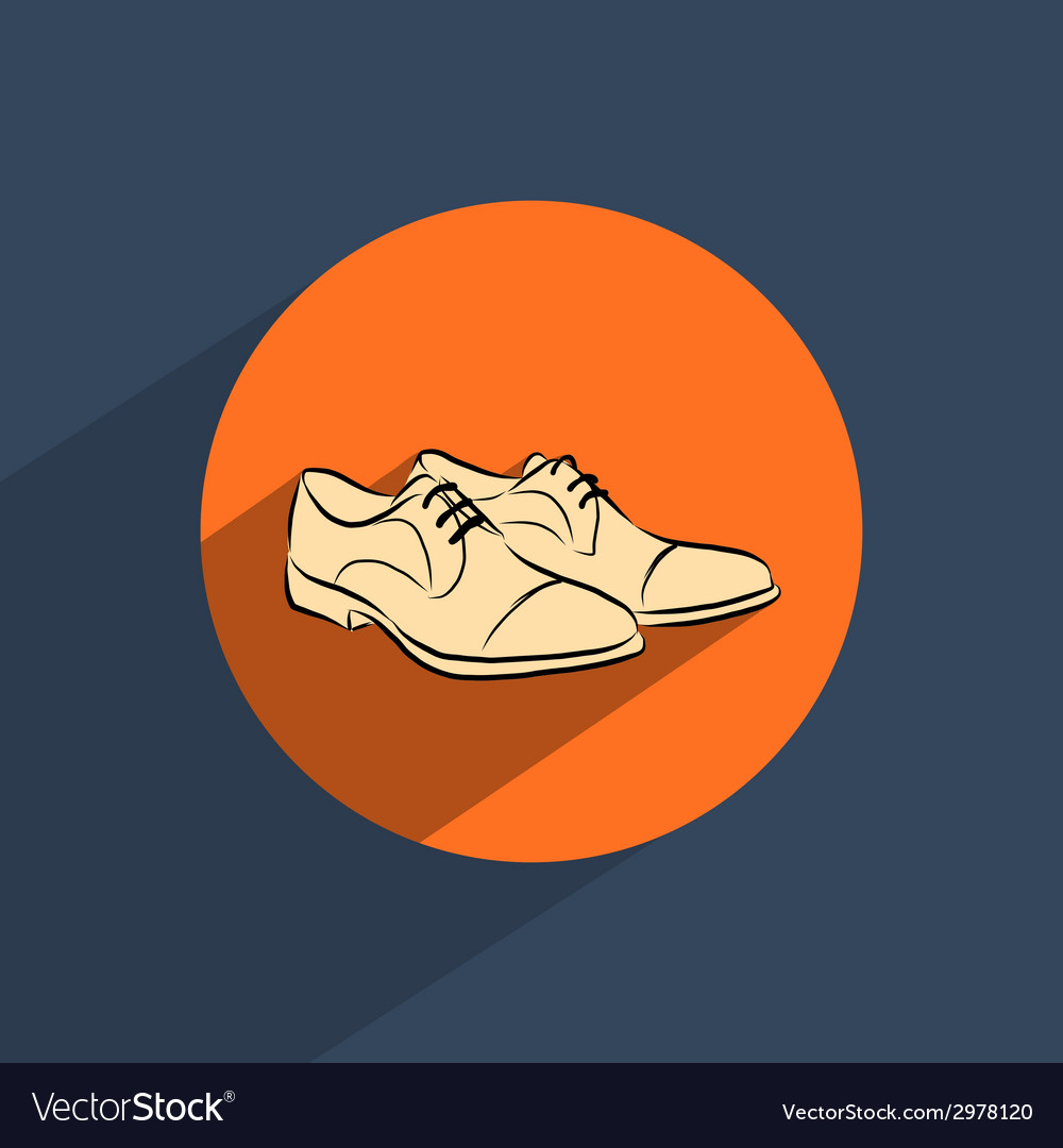 Male shoes flat doodle icon vector | Price: 1 Credit (USD $1)