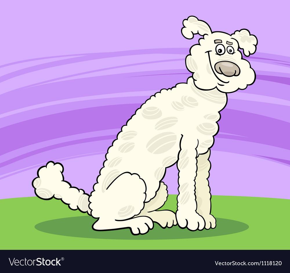 Poodle dog cartoon vector   Price: 1 Credit (USD $1)