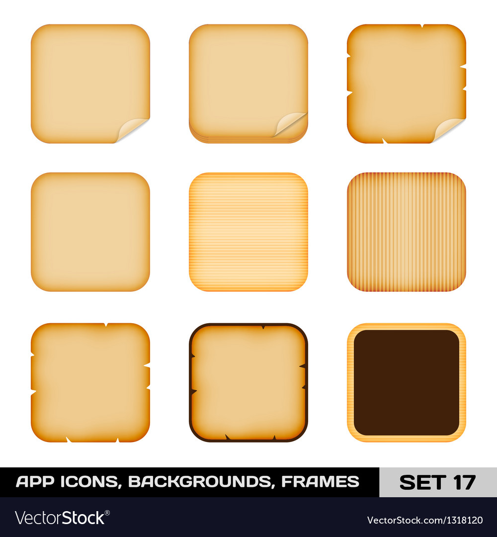Set of colorful app icon frames templates vector | Price: 1 Credit (USD $1)