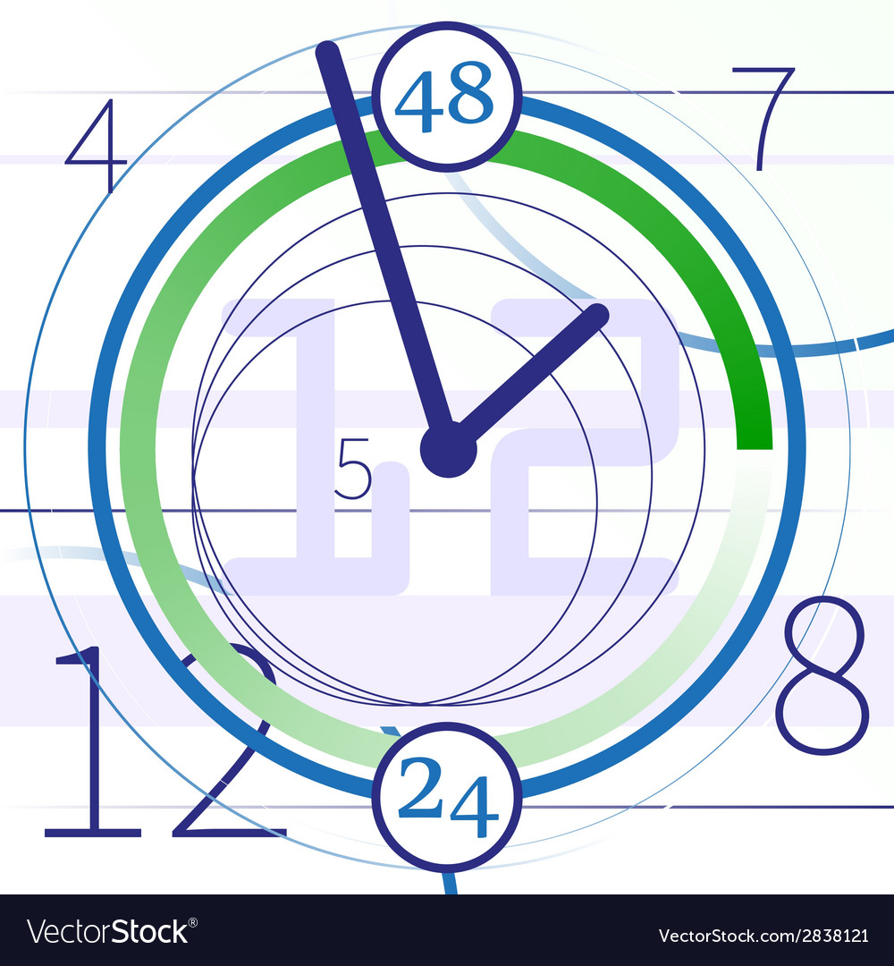 Abstract background with clock vector   Price: 1 Credit (USD $1)