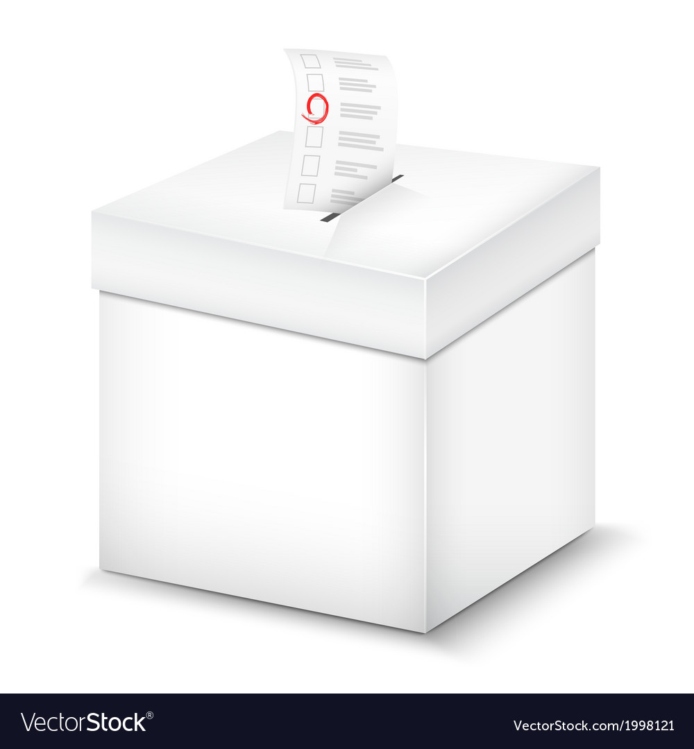 Ballot box isolated on white vector | Price: 1 Credit (USD $1)