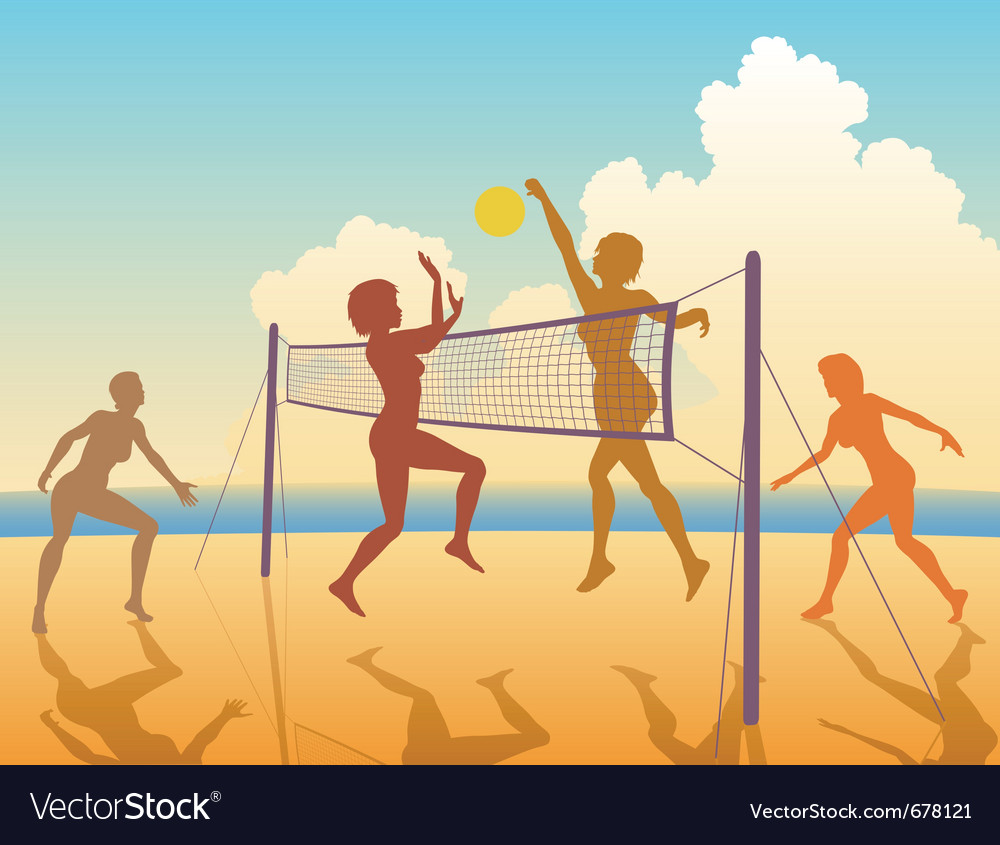 Beach game vector | Price: 1 Credit (USD $1)