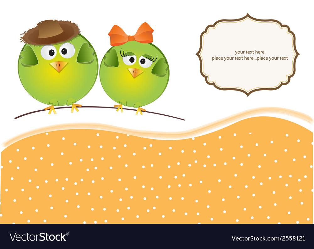 Birds couple in love vector   Price: 1 Credit (USD $1)