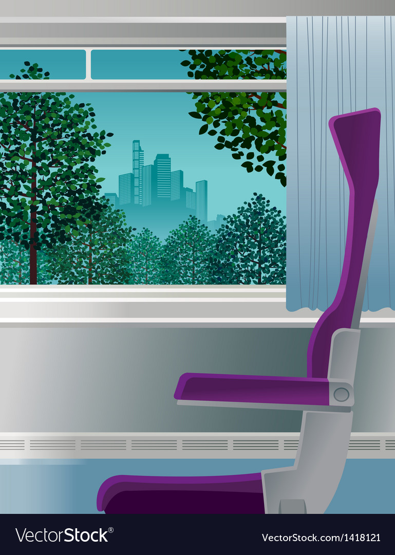 Chair interior city scene vector | Price: 1 Credit (USD $1)