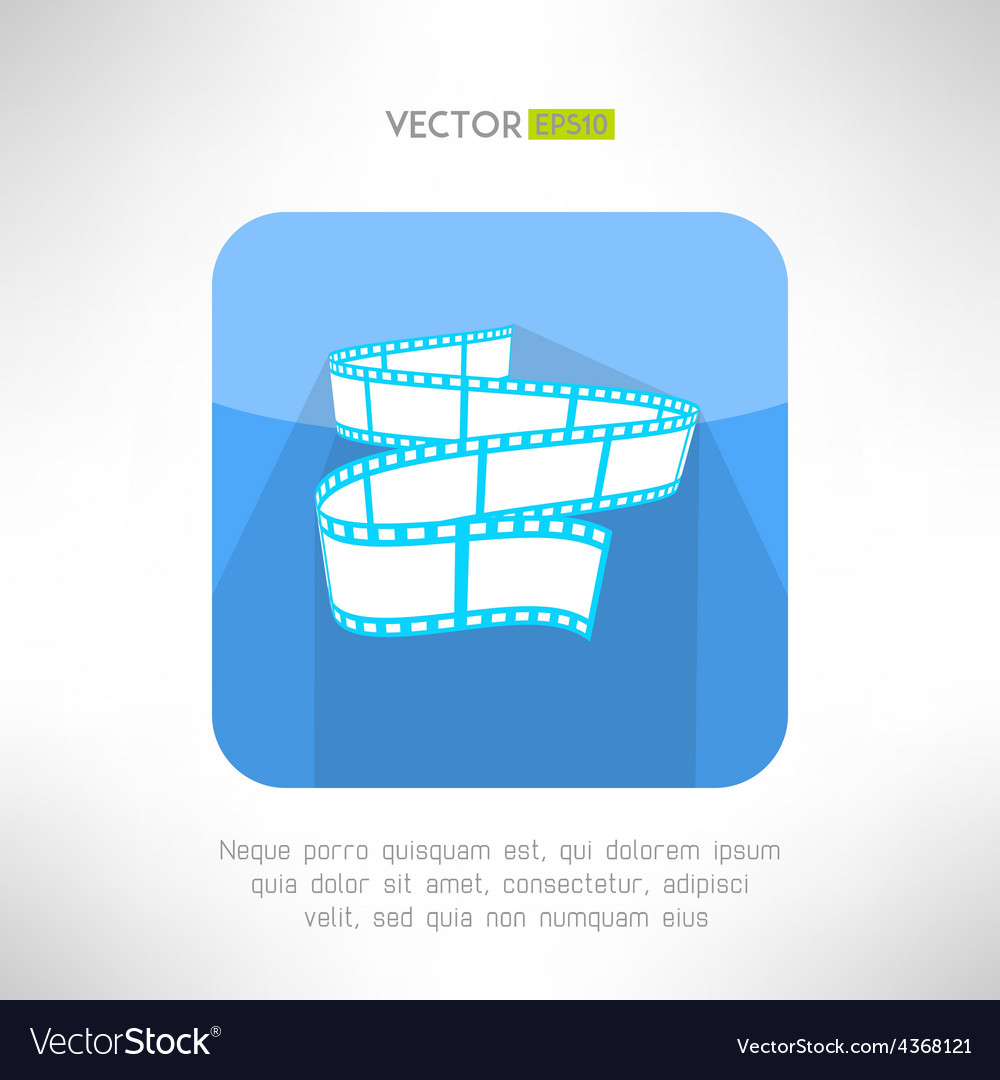 Cinema footage tape icon in modern clean and vector | Price: 1 Credit (USD $1)